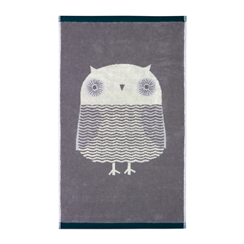 Towels-Hand-Towel-Owl-Grey-donna-wilson