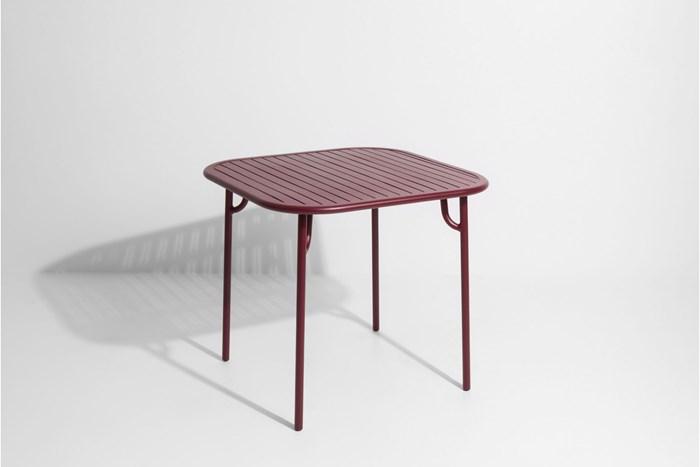 Table de jardin carrée \