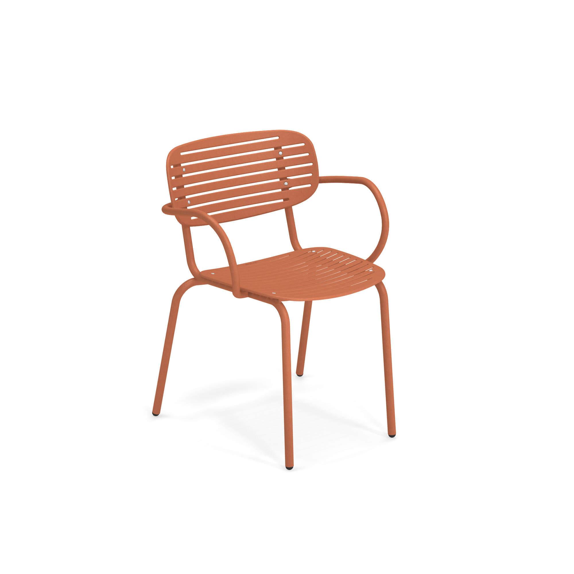 Chaise de jardin avec accoudoirs